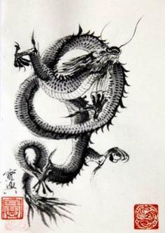 sumi-e dragons | Sumi-e Artists of Canada