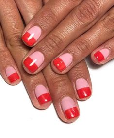 Looking for some Valentine's Day nail art ideas? We've got you covered with some seriously good manicure inspiration. Red Nail Varnish, Neutral Nail Polish, Pink Nail Art, Pink Nails, Minimalist Makeup, Minimalist Nails, Color Block Nails, Tiger Nails, Wedding Day Nails