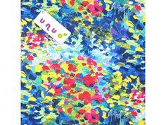 Kočárkovina potištěná, Abstraktní květinová louka. Složení: 100 % PES - polyester Šíře: 160 cm Gramáž: 220 g/m2 Cena: Za 10 cm celé šíře