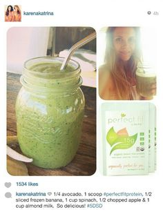 Green smoothie from Tone it Up!