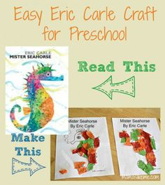 Easy Eric Carle Craft for #Preschool - this would be great for an #ocean theme!