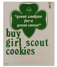 Girl Scout Cookie poster circa 1960s.