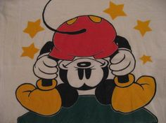 Vintage Mooning Mickey Mouse T-Shirt M