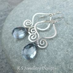Wire Jewelry Tutorial GENIE DROPS Earrings by KSJewelleryDesigns