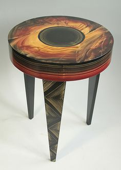 Eclipse Round Table by Ingela Noren and Daniel Grant: Wood Side Table available at www.artfulhome.com