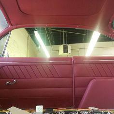 custom door panels silver brushed handles, blend the design into a fesler panel door panels and headliner! '61 buick bubbletop lesabre
