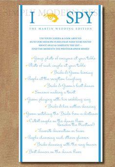 Do it yourself buffet wedding reception checklist heres everything i spy checklist game wedding edition custom colors digital file diy printable solutioingenieria Gallery