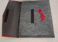 Wool Felt Ipad Sleeve Ipad Case Felt Ipad Cover Red and Grey.. $22.00, via Etsy.