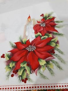 69 Ideas for painting christmas navidad Beaded Christmas Ornaments, Christmas Flowers, Noel Christmas, A Christmas Story, Christmas Pictures, Christmas Projects, Vintage Christmas, Christmas Stockings, Christmas Paintings