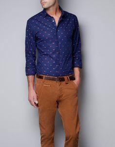 crown print shirt $60