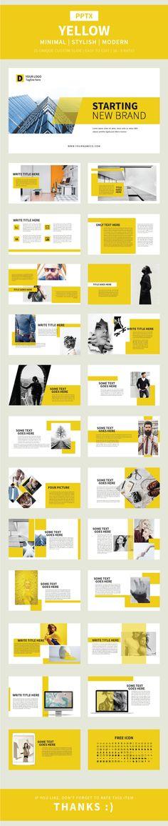 Yellow Pptx Template - Finance PowerPoint Templates