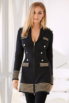 Military sweater coat from Boston Proper