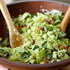 Classic Chopped Salad What's the secret to the best chopped salad? Getting all those wonderfully crisp and colorful fresh vegetables coated with just the right amount of dressing. This simple salad recipe shows you exactly how it's done.