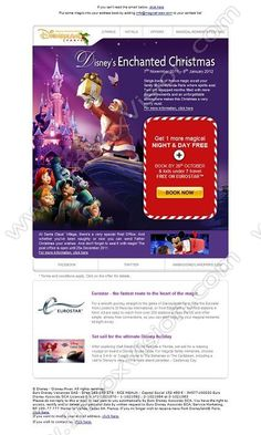 Company:    Disney (Fr)   Subject:    An Enchanting Disney Christmas present... open it!              INBOXVISION is a global database and email gallery of 1.5 million B2C and B2B promotional emails and newsletter templates, providing email design ideas and email marketing intelligence http://www.inboxvision.com/blog