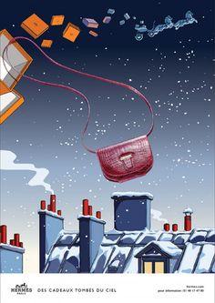 Hermès - campagne de publicité / ad campaign - Noël 2014 - Publicis & Nous - bag - by Dimitri Rybaltchenko