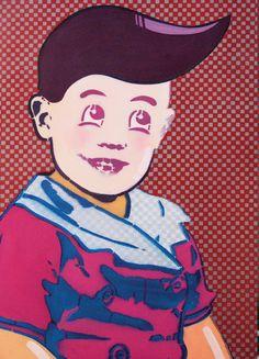 Simpson, 'CorpoBoy', 50x70 cm, acrylic on canvas, 2012