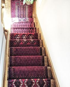 DIY Vintage Stair Runner Is Installed! I Used 5 Different Rugs To Make This  Design