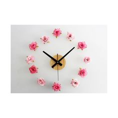 Beautiful Flower Romantic Rose DIY Wall Clock DIY Clock Countryside Simple…
