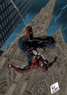 Spider Man Artby Claudio Nunes 2018 Flat by CRNEX on Damn that's some art whoooo Marvel Comic Universe, Comics Universe, Marvel Art, Marvel Heroes, Comics Spiderman, Black Spiderman, Amazing Spiderman, Super Marvel, Spectacular Spider Man