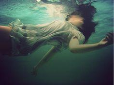 drowning in green #underwater