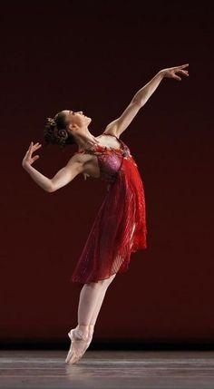 """Ashley Bouder in """"The Four Seasons"""" (New York City Ballet) # Photo © Paul Kolnik."""