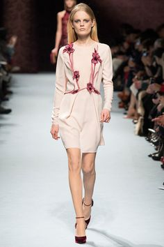 Pretty posies from Nina Ricci for a softness to your evening.  Nina Ricci Fall 2014 Ready-to-Wear Collection Slideshow on Style.com