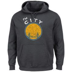 Majestic Golden State Warriors Post Up Hoodie - Men, Size: