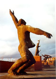 """Memento Park, Budapest. """"Displayed in the Park are 42 pieces of art from the Communist era... only democracy can provide the opportunity to think freely about dictatorship. Or about democracy, come to think! Or about anything!"""""""