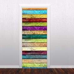 Colored Wood Door Sticker.