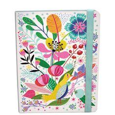 Notitieboek Bloemen met vogel
