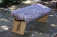 Pink Paisley Print Meditation Bench by BootyBench on Etsy, $80.00