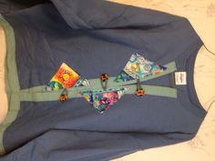 Sweatshirt Cardigan Jacket Blue, Nautical Lighthouse Trim, Retro Buttons XL - pinned by pin4etsy.com