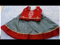 kids designer lehenga choli cutting and stitching //Step by step full tutorial Hindi Chaniya Choli For Kids, Kids Lehenga Choli, Bal Gopal, Hand Work Embroidery, Neck Design, 6 Years, Fashion Art, Stitching, Designers
