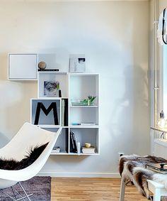 Shelves on wall