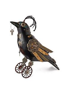 An alternative to a regular crow - Steampunk crow. Can you imagine something like it?