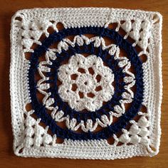 "Cathedral Converts 12"" Afghan Block Tutorial/Re-write by Margaret MacInnis"