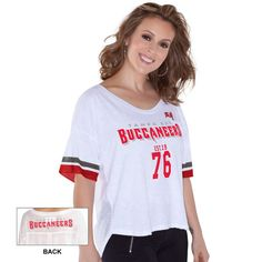 Women's Tampa Bay Buccaneers Touch by Alyssa Milano White Hadley T-Shirt