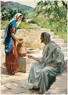 ~ Jesus with the woman at the well by Harry Anderson ~