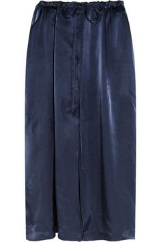 Jil Sander - Satin Midi Skirt - Navy - FR36