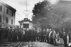 Відкриття трамвайного маршруту на Високий Замок. Фото 1912 року