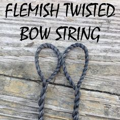Custom Flemish-Twisted Bow String!    Specs:  Material: B-50 Dacron  Strands: 14  Color: Black    Included in this package is a fully
