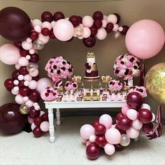Home Remodel Country DIY Balloon Arch Kit // Burgundy Pink // Bachelorette Decor // Wedding Balloon Garland // Baby Shower // Party Decoration // Birthday Pink Balloons, Wedding Balloons, Confetti Balloons, Baby Shower Balloons, Birthday Balloons, Latex Balloons, Ballons Roses, Balloon Arch, Balloon Garland