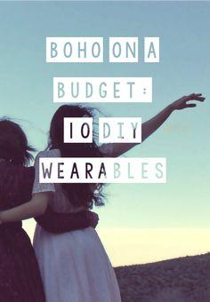 Quirky Bohemian Mama: Boho on a Budget #1: 10 DIY Wearables