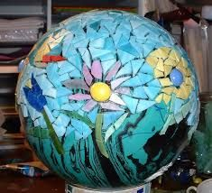 Image result for MOSAIc garden balls