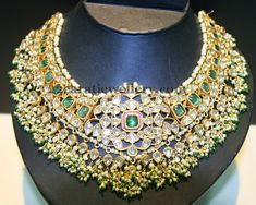 bridal jewelry for the radiant bride Royal Jewelry, India Jewelry, Gold Jewelry, Jewlery, Necklace Set, Emerald Necklace, Short Necklace, Wedding Jewelry, Bridal Jewellery