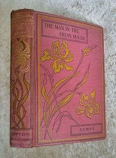 The Man in the Iron Mask Alexander Dumas Antique Decor Victorian Floral Binding