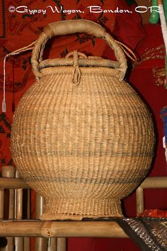 Amazing old African cobra basket.  Cobra not included $48