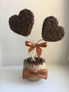 Кофейный топиарий ко дню всех влюблённых.
