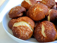 Vegan Pretzel Rolls - oh my husband is SO gonna get on me to make these. He LOOOOOVES pretzels!