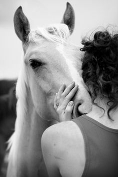 Friendship..I love the feel of my horse's nose/breath on my face